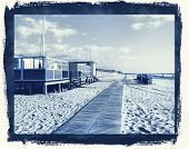 photographic reproduction cyanotype Delft Blue Beach