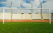 La meta en el estadio