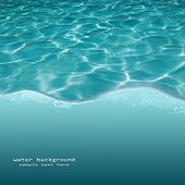 Background of rippled pattern of clean water in a blue swimming pool
