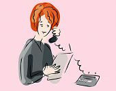 image of woman phone talk concept
