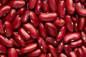 Red Kidney Bean Isolated On White Background. Red Kidney Bean Texture Background. A Large Bean With poster