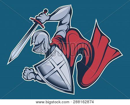 Colored Knight Warrior In Armor