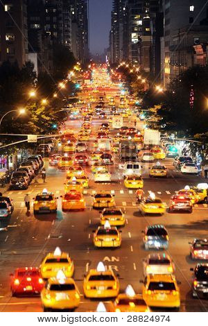 Crowded street in new york