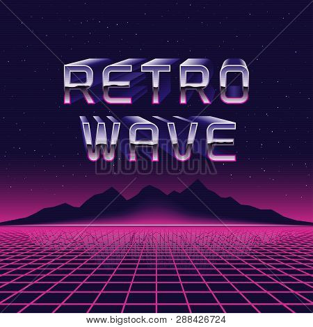 Vector 80s Retro Futuristic Illustration