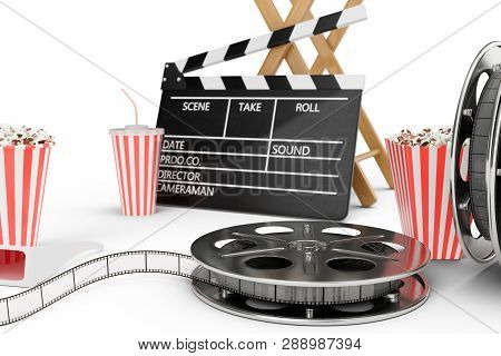 3d Illustration Director Chair Movie