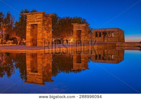 Temple Of Debod At Night