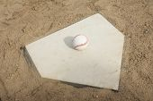 Baseball On Home Plate