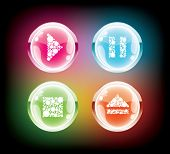 Glass music buttons