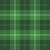 St. Patricks Day Tartan Plaid. Scottish Pattern In Green And White Cage. Scottish Cage. Traditional  poster