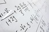 formulas on a whiteboard