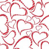 Vector illustration of heart shapes with copy space on seamless white background for Valentines Day and other occasions.