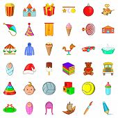 Carousel Icons Set. Cartoon Style Of 36 Carousel Icons For Web Isolated On White Background poster