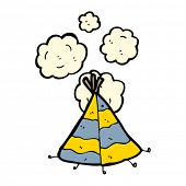 tepee cartoon