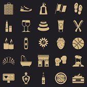 Relax Icons Set. Simple Set Of 25 Relax Vector Icons For Web For Any Design poster