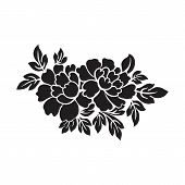 Flowers Icon Vector In Modern Flat Style For Web, Graphic And Mobile Design. Flowers Icon Vector Iso poster