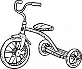 picture of tricycle  - Doodle style children - JPG