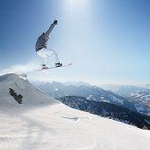 Jumping snowboard