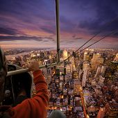 stock photo of ultralight  - Flying over NY - JPG
