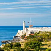 The famous fortress of El Morro in the bay of Havana