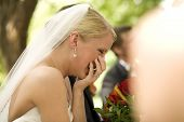 Bride Laughing During Her Wedding Ceremony