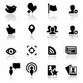 Icons set Social network