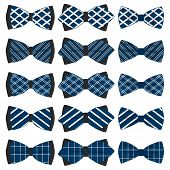 Illustration On Theme Big Colored Set Ribbon Different Types, Bow Tie Various Size. Ribbon Pattern C poster