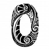 number ornament - 0 -