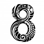 number ornament - 8 -