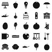 Low-fat Food Icons Set. Simple Set Of 25 Low-fat Food Icons For Web Isolated On White Background poster