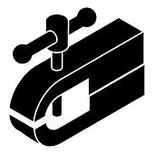 Clamping Machine Icon. Simple Illustration Of Clamping Machine Icon For Web poster