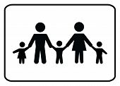 Family Icon.family Icon On White Background Drawing By Illustration.there Are Five Family Members In poster