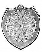 das alte Wappen des kaiserlichen Japans. Stich von Alwin Zschiesche veröffentlicht am