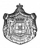 Das alte Wappen Griechenlands. Stich von Alwin Zschiesche veröffentlicht am