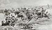 Battle of Borodino. Illustration by artist A.P. Apsit from book