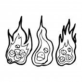 burning coals cartoon collection