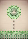 Illustrated stylized tree. Vector illustration.