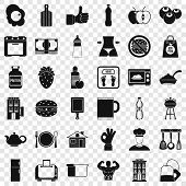 Nice Breakfast Icons Set. Simple Style Of 36 Nice Breakfast Vector Icons For Web For Any Design poster