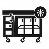 Large Store Fridge Icon. Simple Illustration Of Large Store Fridge Icon For Web Design Isolated On W poster