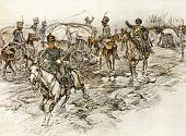 Cavalry. Illustration by artist A.P. Apsit from book