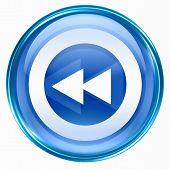 Rewind Icon Blue