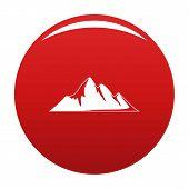 Mountain Adventure Icon. Simple Illustration Of Mountain Adventure Icon For Any Design Red poster