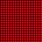Firebrick Gingham Pattern. Textured Red And Black Plaid Background. Light Red And Black Buffalo Chec poster