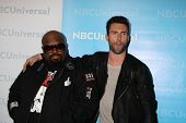 LOS ANGELES - JAN 6:  CeeLo Green, Adam Levine arrives at the NBC Universal All-Star Winter TCA Part