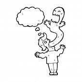 desenhos animados de exorcismo