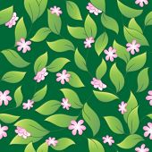 Flowery seamless background 2 - vector illustration.