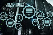 In-memory Computing. Technology Calculations Concept. High-performance Analytic Appliance. poster