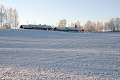 Farm Houses In Winter