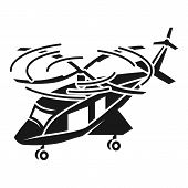 Large Passenger Helicopter Icon. Simple Illustration Of Large Passenger Helicopter Vector Icon For W poster