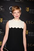 LOS ANGELES - JAN 14:  Michelle Williams arrives at  the BAFTA Award Season Tea Party 2012 at Four S