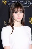 LOS ANGELES - JAN 14:  Felicity Jones arrives at  the BAFTA Award Season Tea Party 2012 at Four Seao